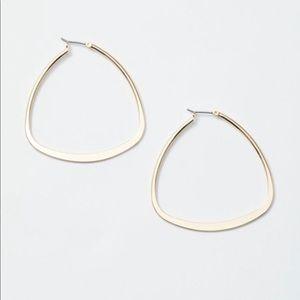 "Golden ""irregular"" hoop earrings"